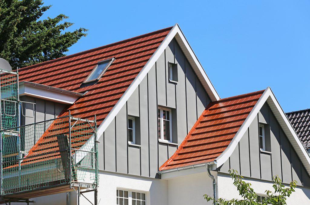 Fassadenverkleidung aus Blech